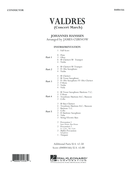 Valdres (Concert March) - Conductor Score (Full Score)