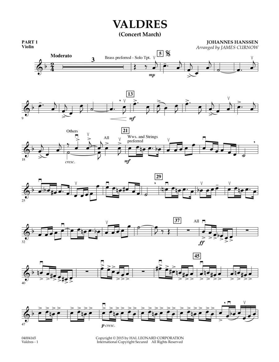 Valdres (Concert March) - Pt.1 - Violin