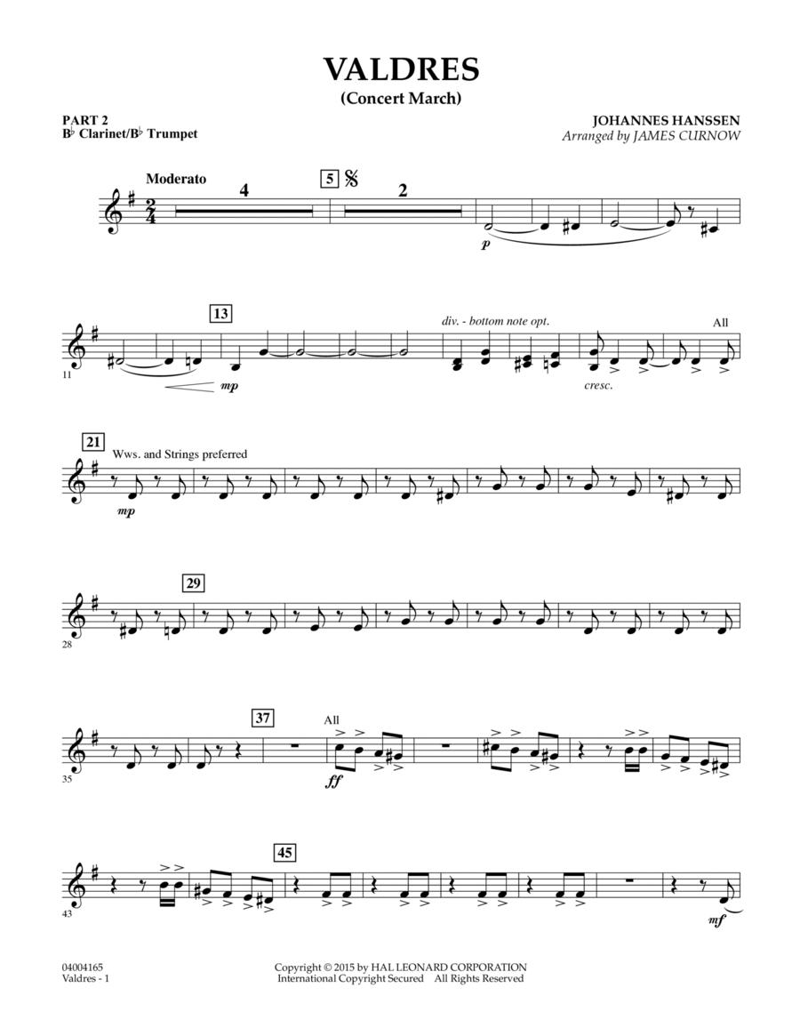 Valdres (Concert March) - Pt.2 - Bb Clarinet/Bb Trumpet