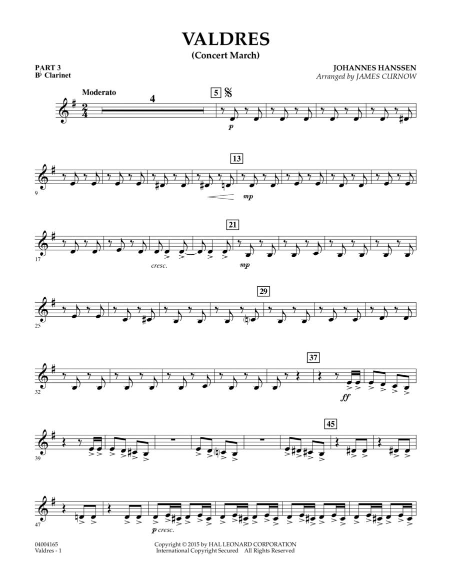 Valdres (Concert March) - Pt.3 - Bb Clarinet