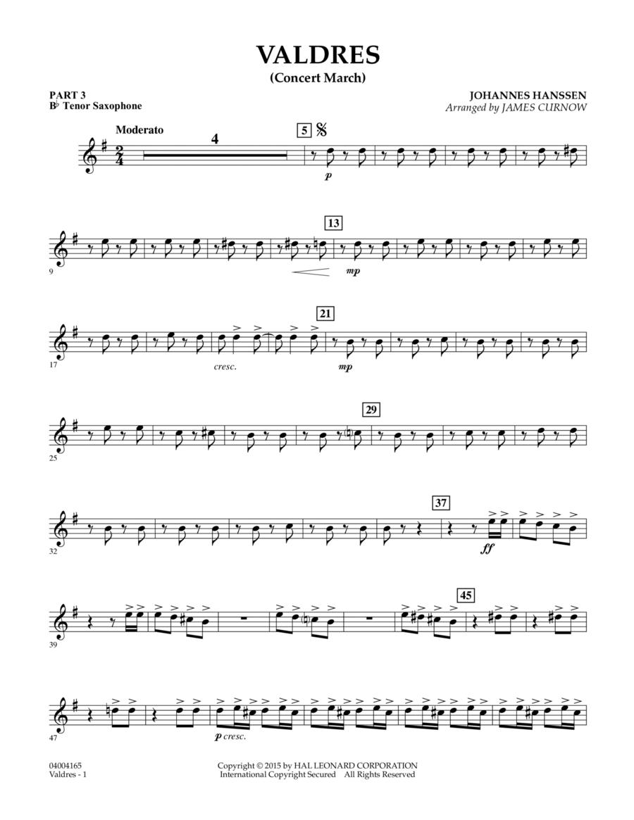 Valdres (Concert March) - Pt.3 - Bb Tenor Saxophone