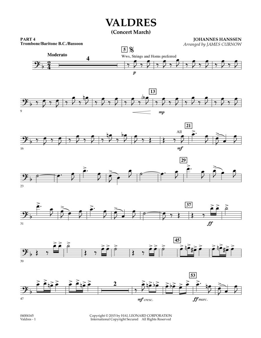 Valdres (Concert March) - Pt.4 - Trombone/Bar. B.C./Bsn.
