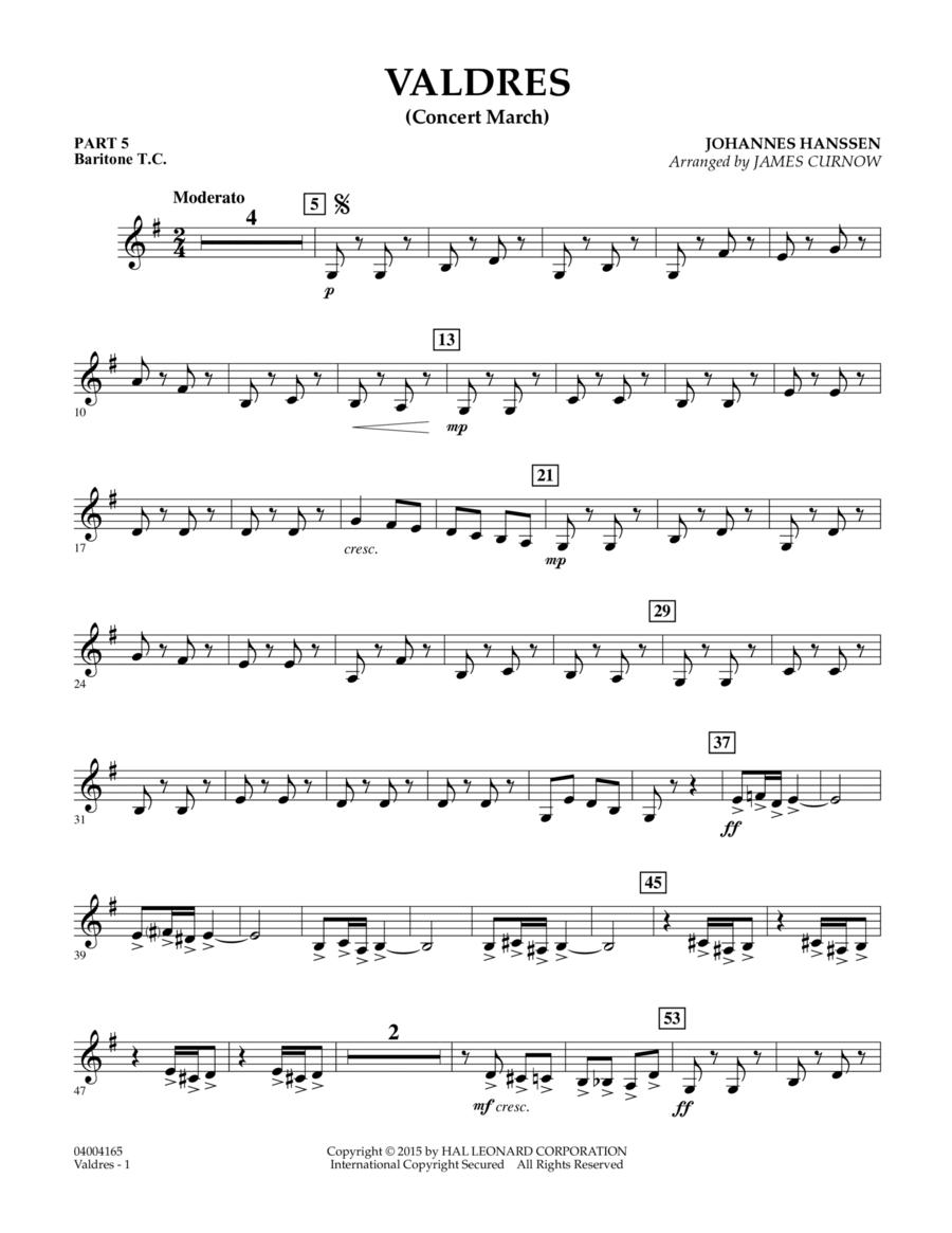 Valdres (Concert March) - Pt.5 - Baritone T.C.