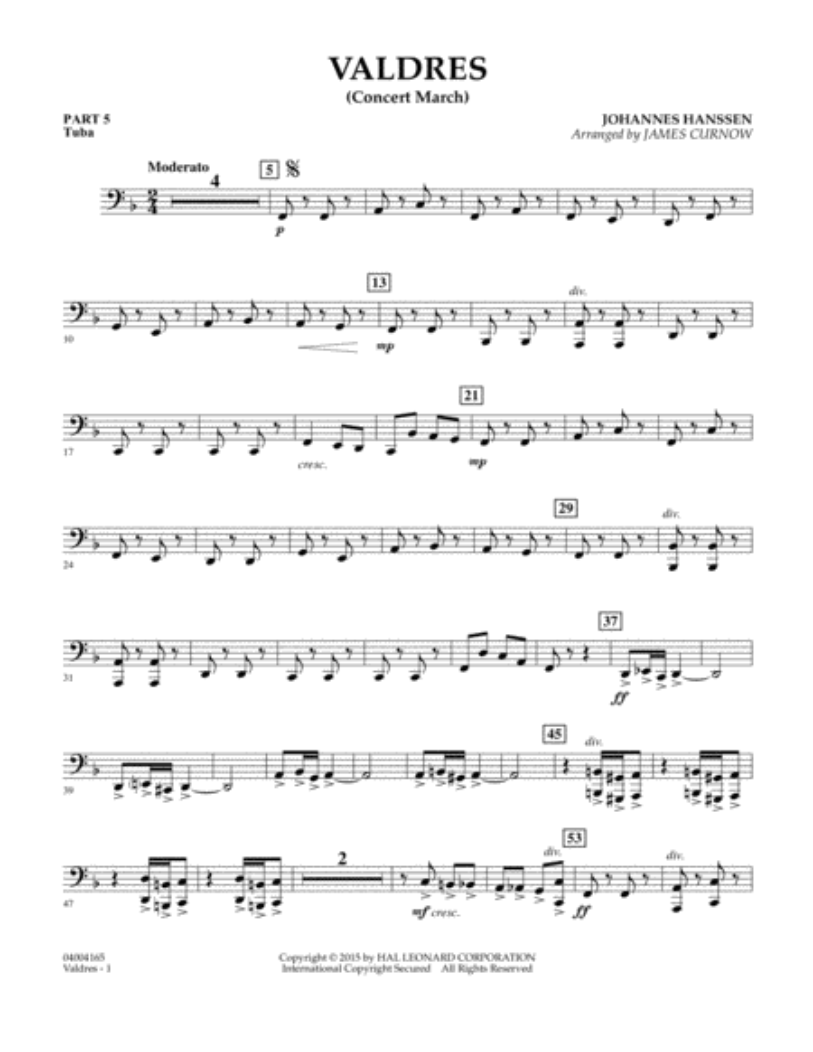 Valdres (Concert March) - Pt.5 - Tuba