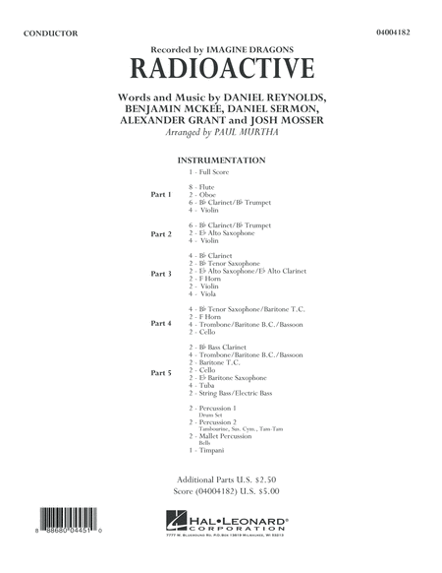 Radioactive - Conductor Score (Full Score)