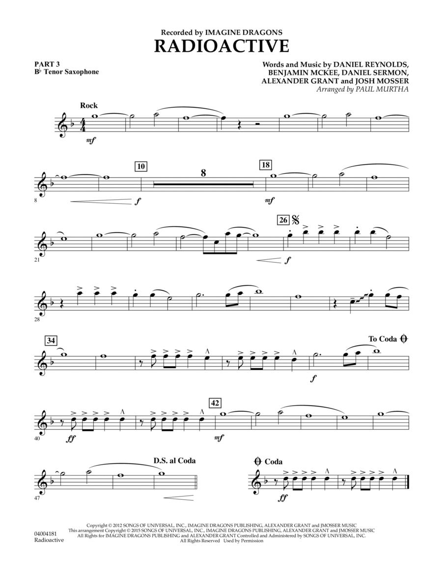 Radioactive - Pt.3 - Bb Tenor Saxophone