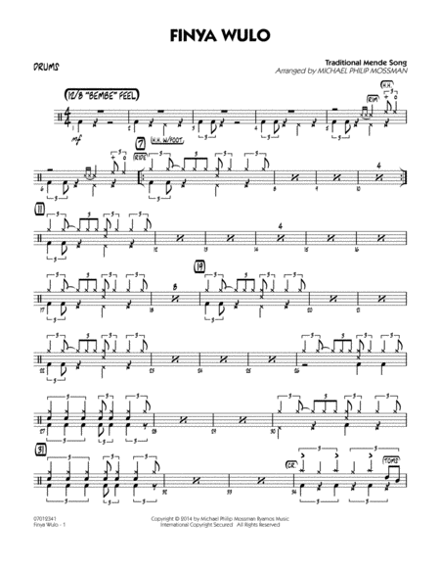 Finya Wulo - Drums