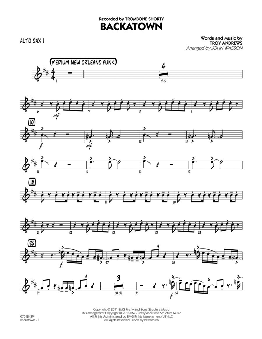 Backatown - Alto Sax 1
