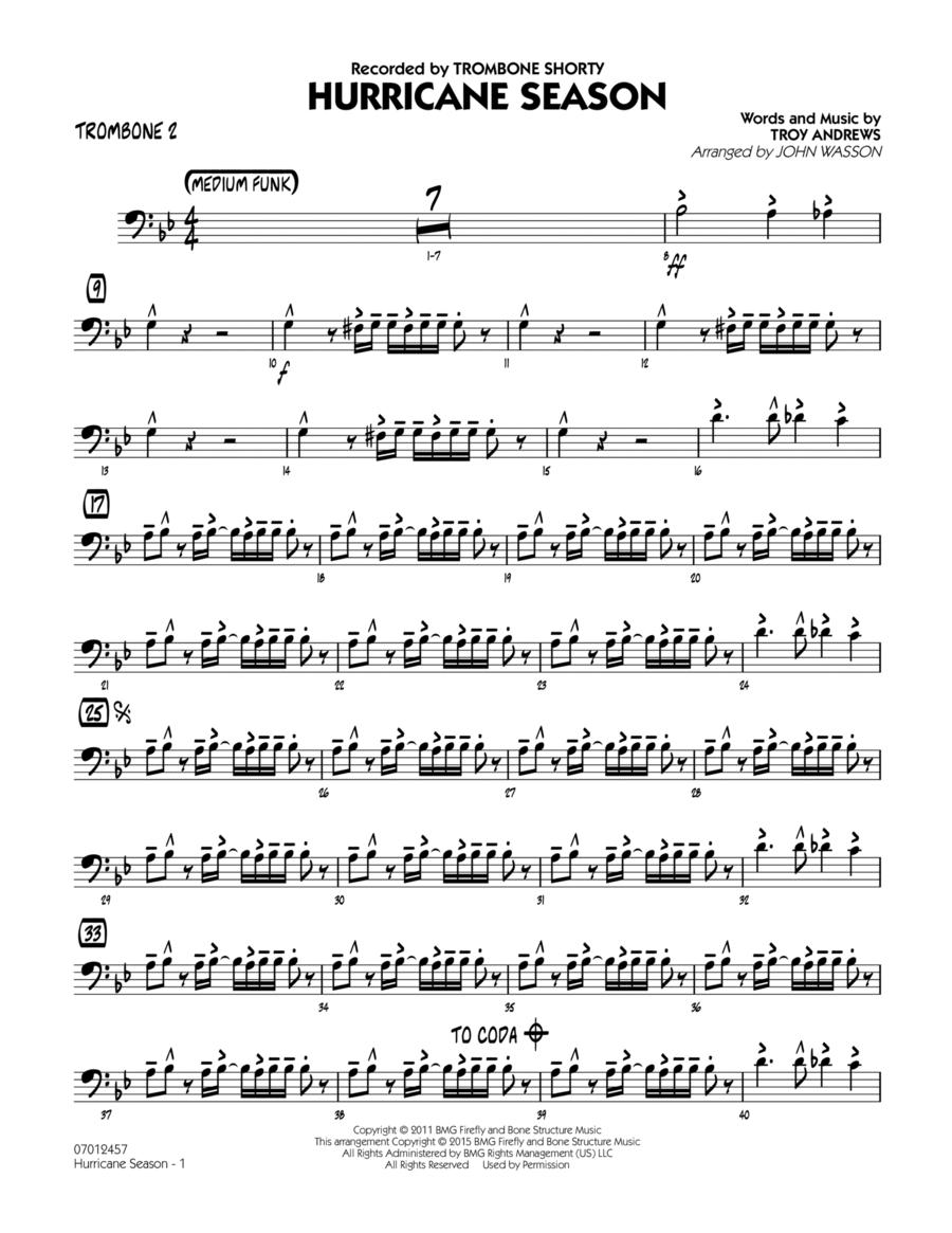 Hurricane Season - Trombone 2