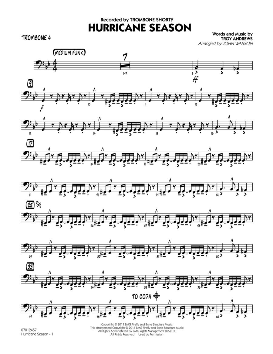 Hurricane Season - Trombone 4