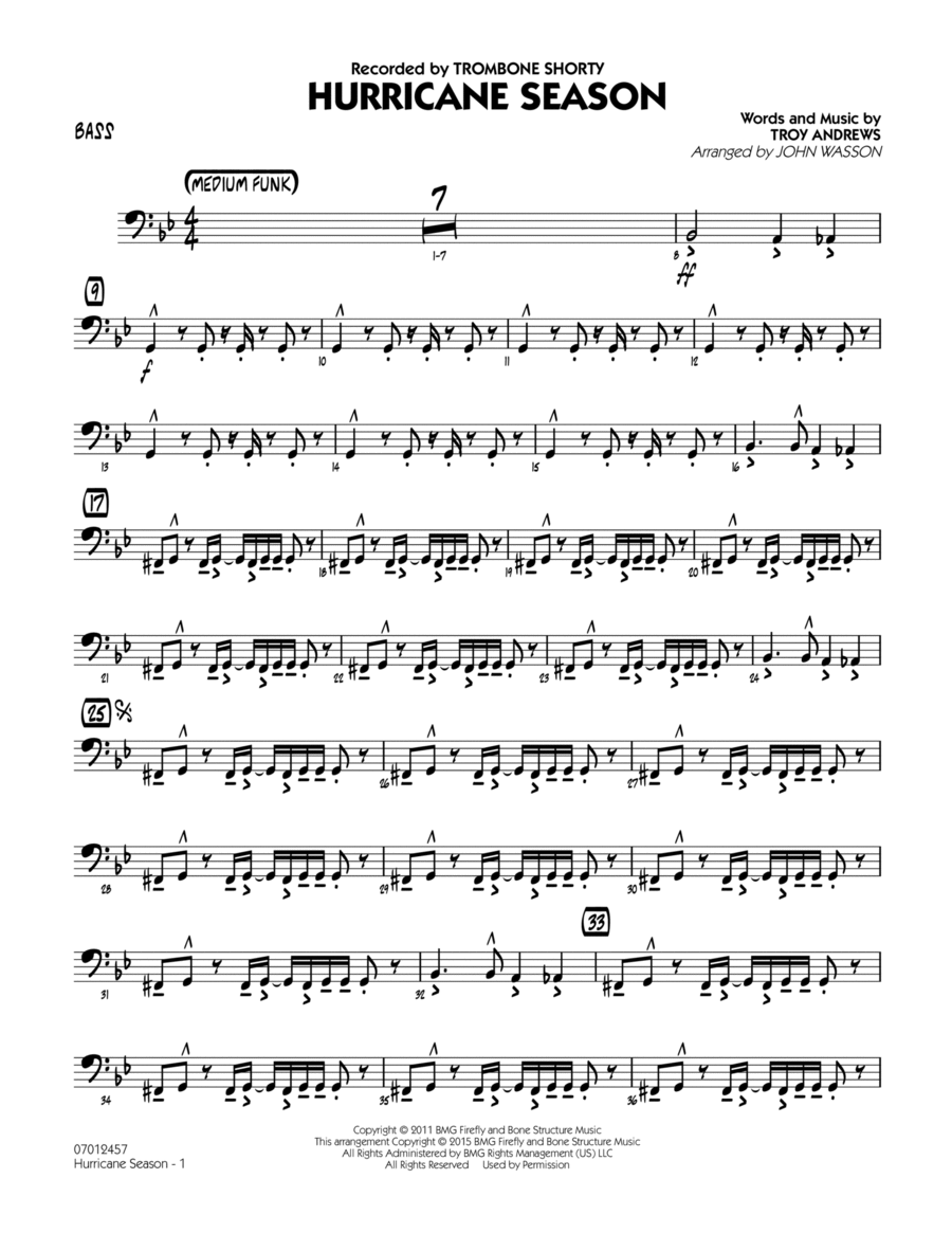 Hurricane Season - Bass