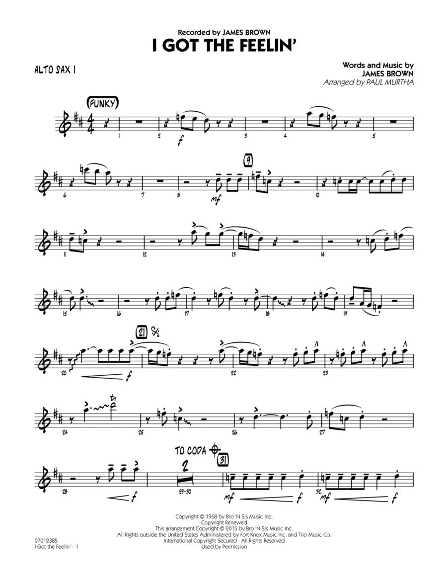 I Got The Feelin' - Alto Sax 1
