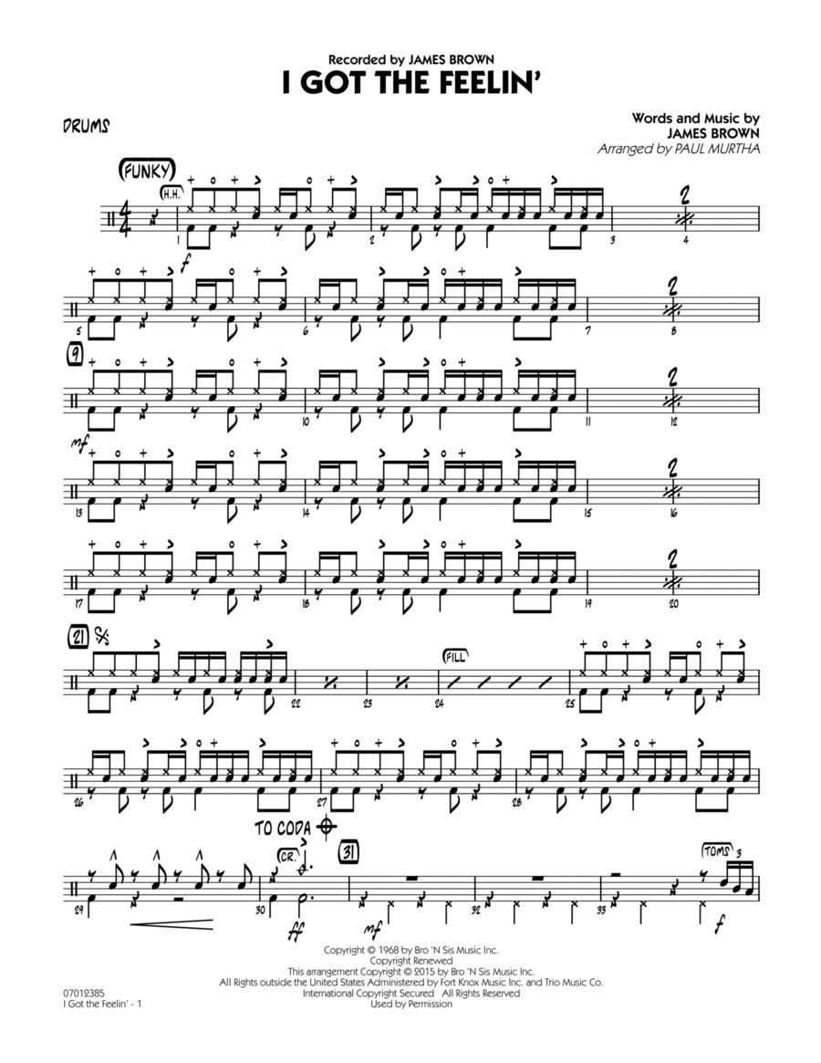 I Got The Feelin' - Drums