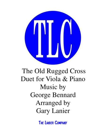 THE OLD RUGGED CROSS (Duet – Viola and Piano/Score and Parts)
