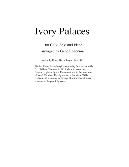 Ivory Palaces Cello and Piano Solo