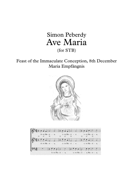 Ave Maria for STB (or just S&T) in German with piano / guitar