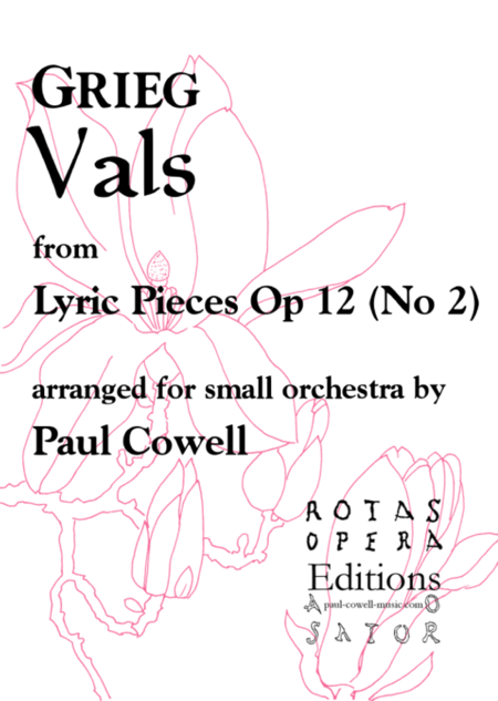 GRIEG Vals (Waltz) arranged for small orchestra
