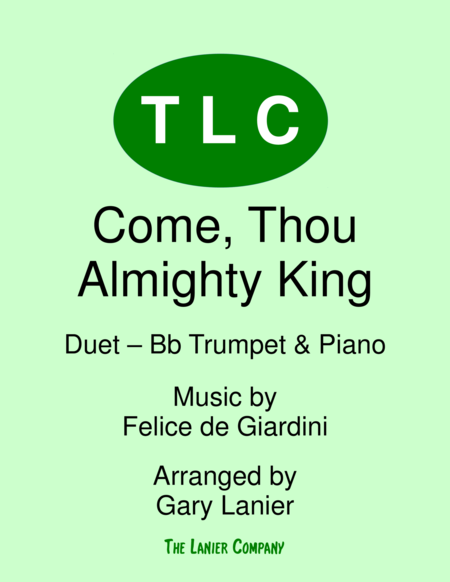 COME, THOU ALMIGHTY KING (Duet – Bb Trumpet and Piano/Score and Parts)