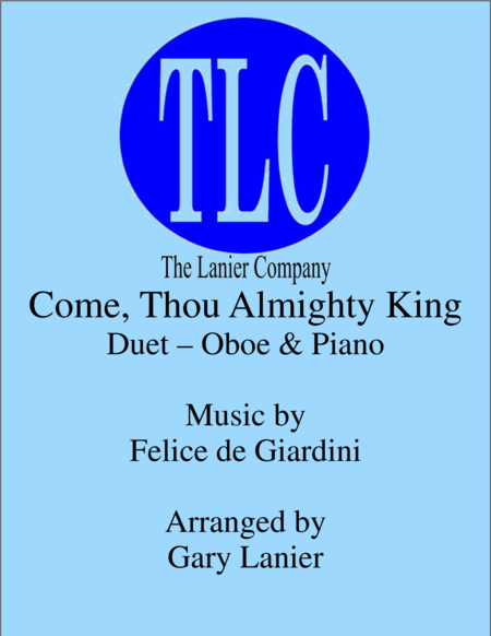 COME, THOU ALMIGHTY KING (Duet – Oboe and Piano/Score and Parts)