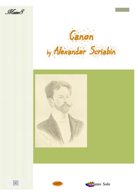Canon piano solo by Alexander Scriabin
