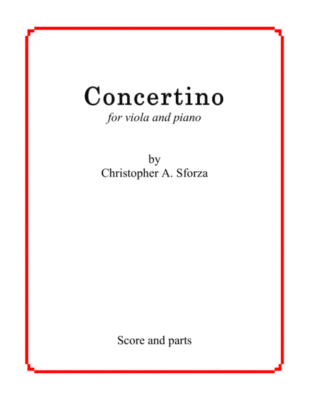 Concertino, for viola and piano