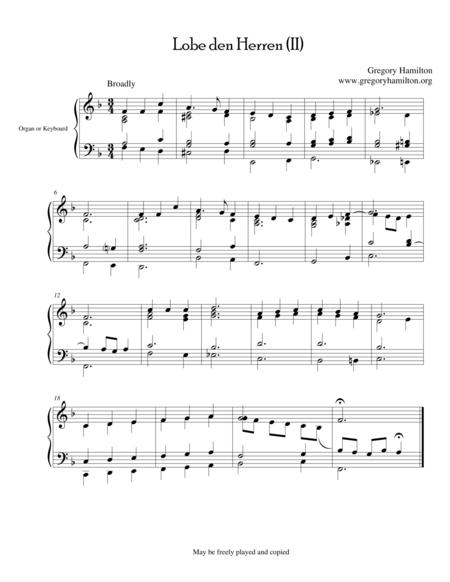 Lobe den Herren - Alternate Harmonization