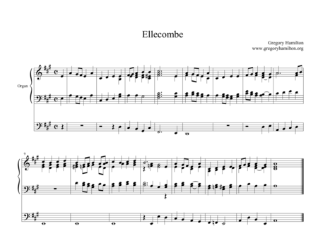 Ellecombe - Alternate Harmonization for organ