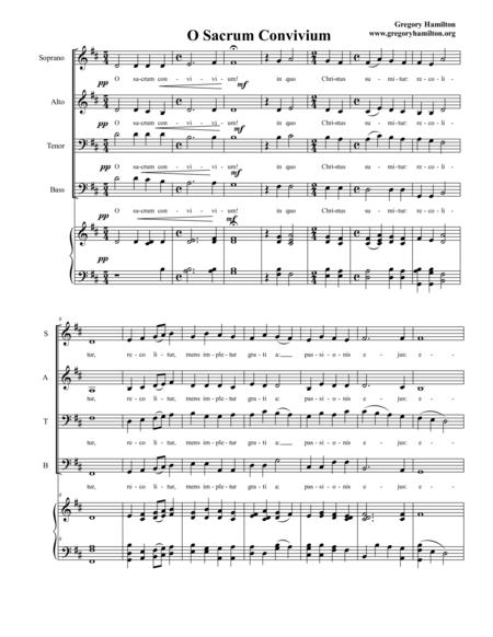 O Sacrum Convivium for SATB choir