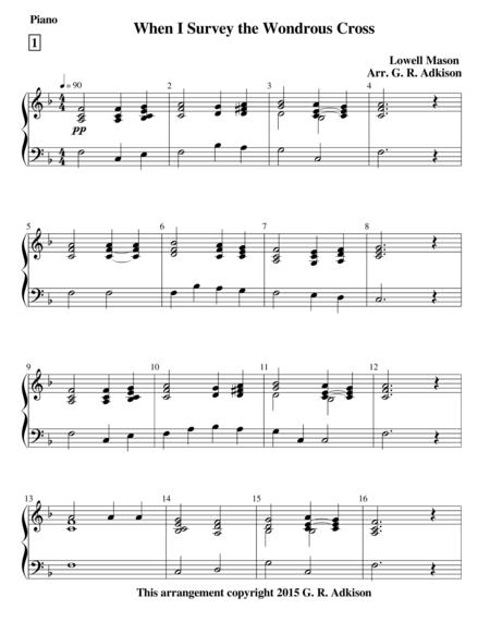 When I Survey the Wondrous Cross (4 verse Piano solo)