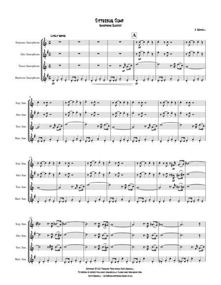 Jitterbug Jump: Saxophone Quartet
