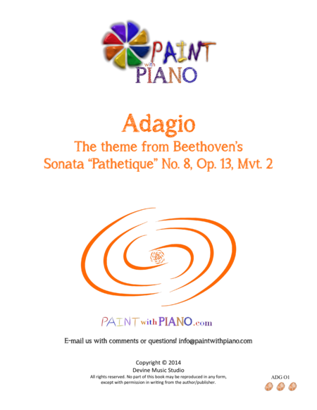 Beethoven's Adagio Theme - Easy Piano (from Sonata Pathétique, mvt. 2)