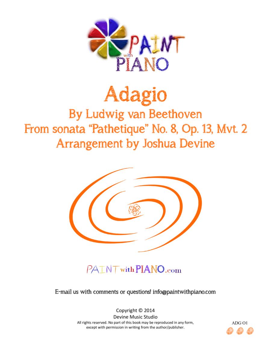 Beethoven's Adagio - Easy Piano (Sonata Pathétique, mvt. 2)