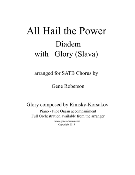 All Hail the Power (Diadem) with Glory (Slava)