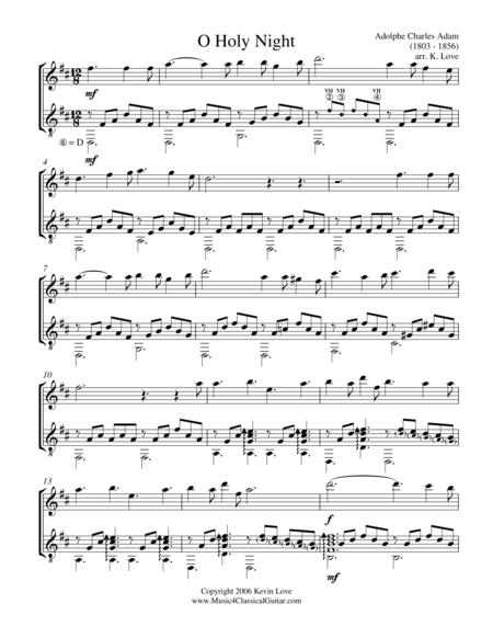 O Holy Night (Oboe and Guitar) - Score and Parts