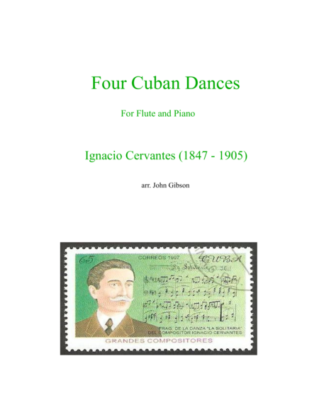 Flute and Piano - Four Cuban Dances by Cervantes