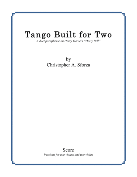 Tango Built for Two