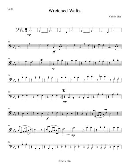 Wretched Waltz (Cello Part)
