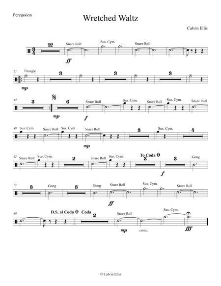 Wretched Waltz (Percussion Part)