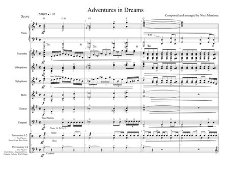 Adventures in Dreams (percussion ensemble piece)