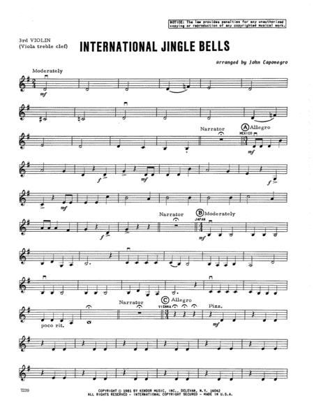 Violin violin tabs jingle bells : Download International Jingle Bells - Violin 3 (Viola T.C.) Sheet ...
