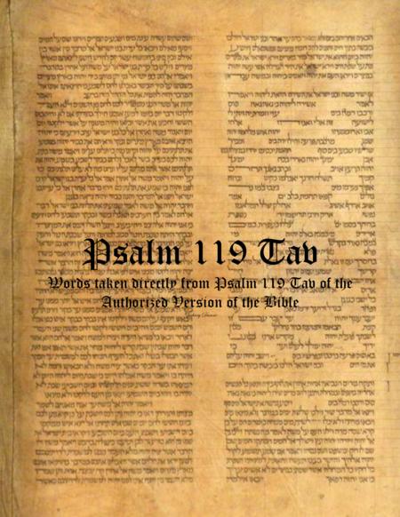 Psalm 119 Tav