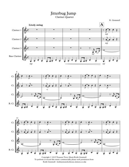 Jitterbug Jump: Clarinet Quartet