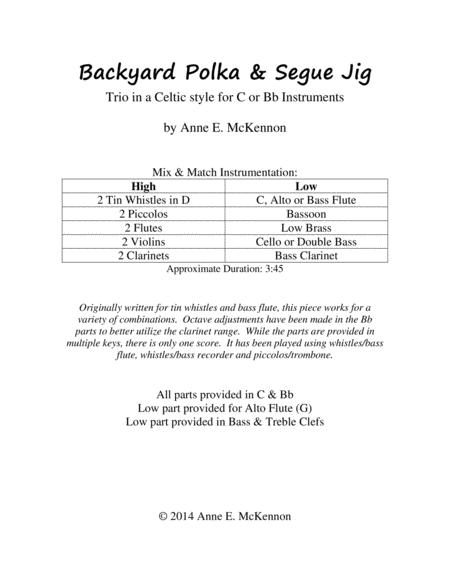 Backyard Polka & Segue Jig (trio for C or Bb instruments)