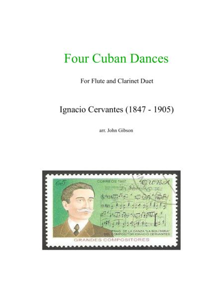 4 Cuban Dances by Cervantes for flute and clarinet duet