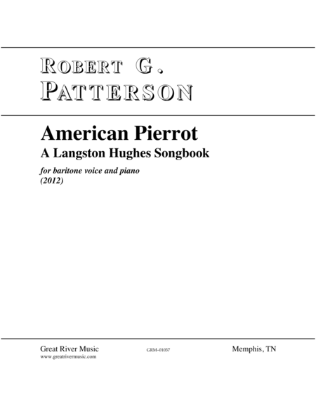 American Pierrot: A Langston Hughes Songbook