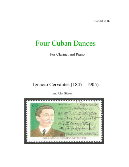 4 Cuban Dances by Cervantes for Clarinet and Piano