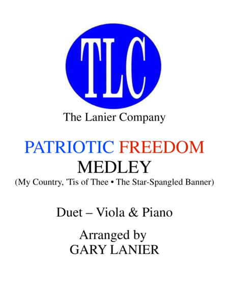 PATRIOTIC FREEDOM MEDLEY (Duet – Viola and Piano/Score and Parts)