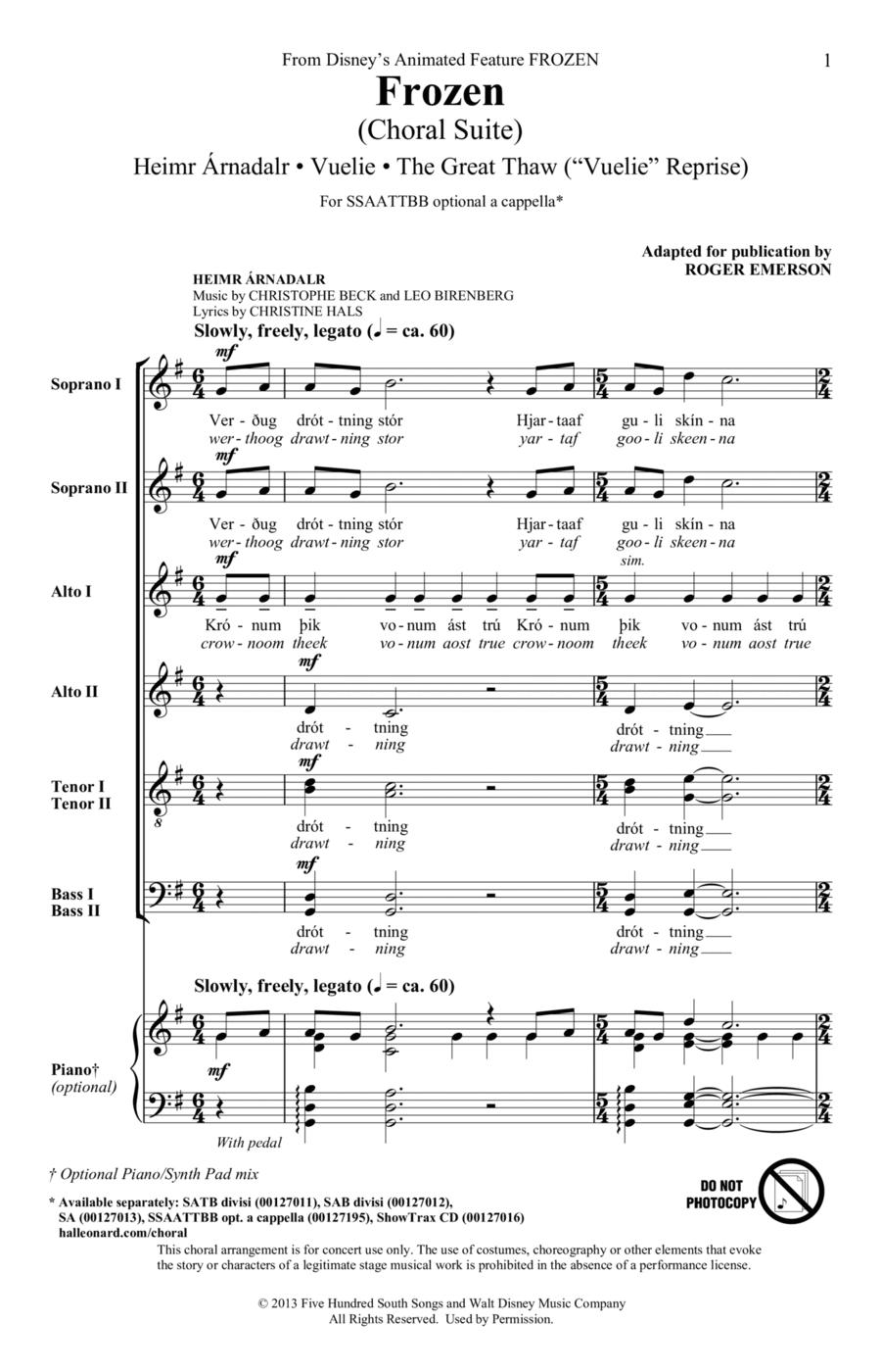 Frozen (Choral Suite)