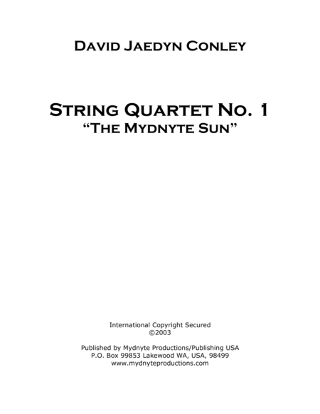 String Quartet No. I,