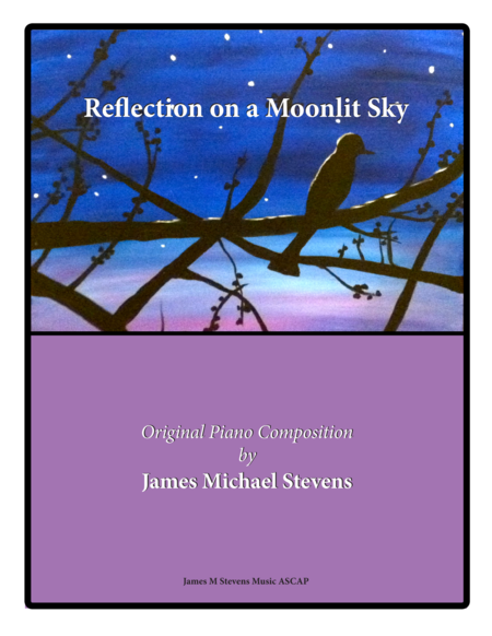 Reflection on a Moonlit Sky